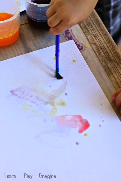Vibrant colors with homemade scented watercolor paint