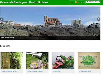 Web sobre el Camino del Norte en Castro Urdiales.