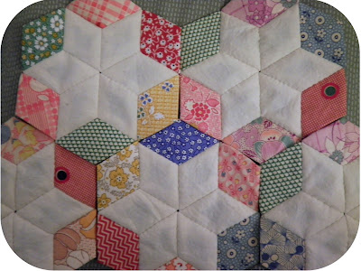 Vintage & Reproduction English Paper Piecing Diamonds