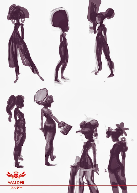 Quick thumbnails for black sexy woman for personnal project