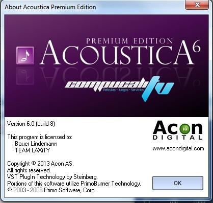 Acoustica Premium Edition Audio Editor 6.0.8