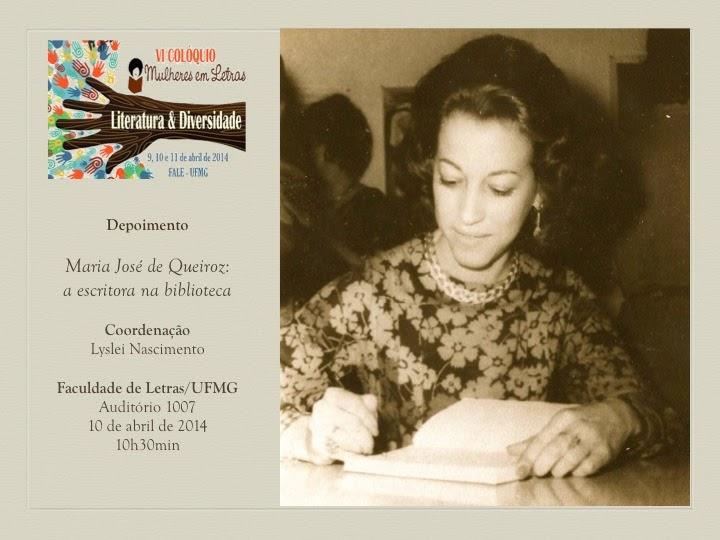 VI Colóquio Mulheres em Letras - Faculdade de Letras da UFMG - 10 de abril de 2014