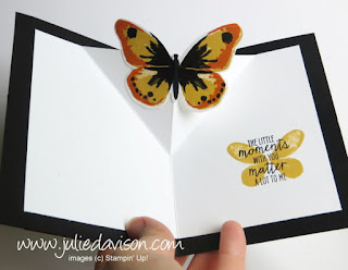 Stampin' Up! Watercolor Wings Diagonal Pop Up Card #stampinup www.juliedavison.com