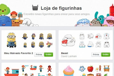 download figurinhas para bate papo facebook