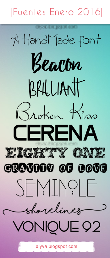 january, enero, fonts, fuentes, 2016, free, download