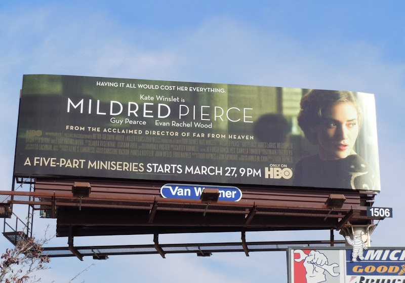 Mildred Pierce TV billboard
