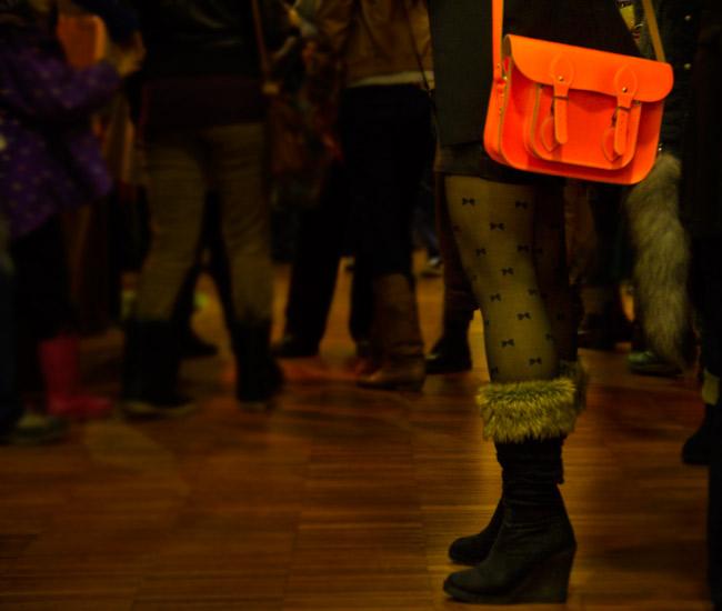Vintage Fashion, Thrift Fashion, Street Style, Style, Cambridge Satchel Company, Cambridge Satchel Company Fluoro in Orange, Bright Orange Bag, Faux fox tail, Faux fox tail on bag, Holt Renfrew, Make it Handmade revolution, Make it