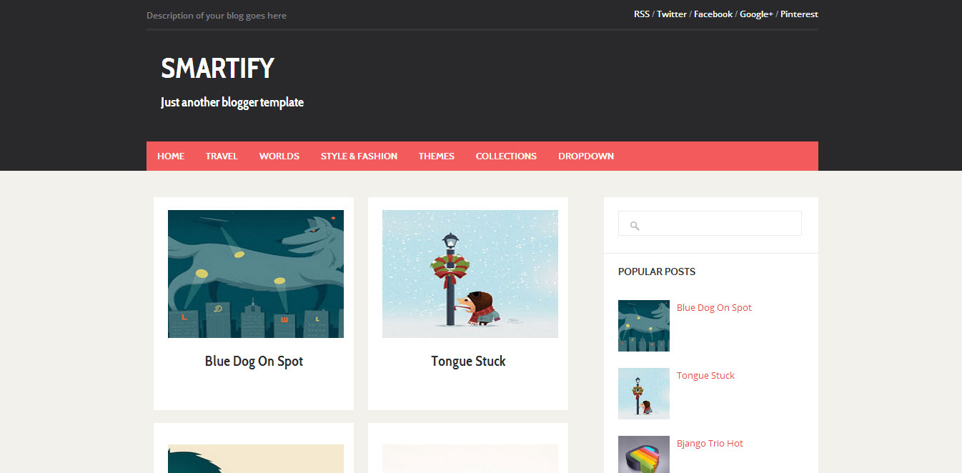 Template Blog Responsive Smartify