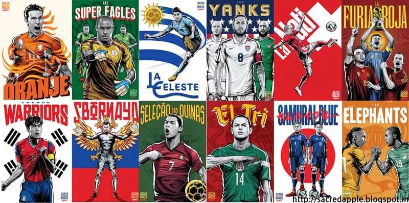 FIFA 2014 Football teams