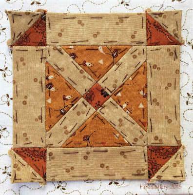 Dear Jane Quilt - Block M2 Duff's Bluff