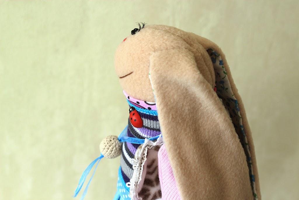 текстильный заяц, кукла для украшения интерьера
