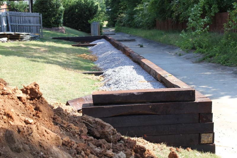 Landscaping Birmingham Al: A retaining wall | Leveling ...