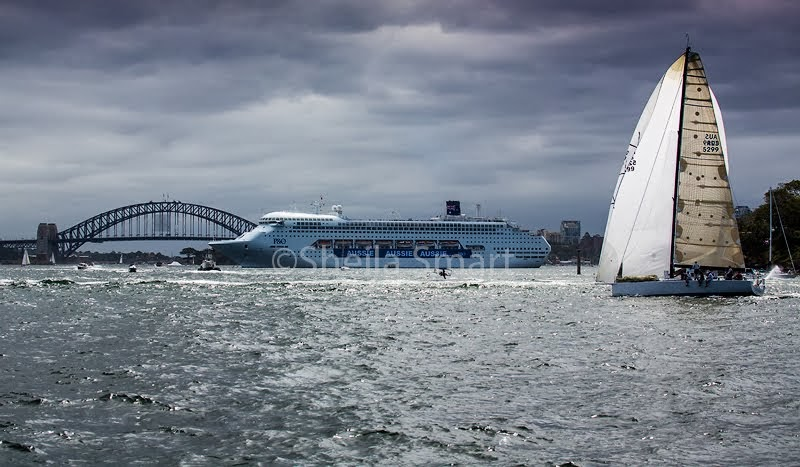 Yacht Victoire on Sydney Harbour