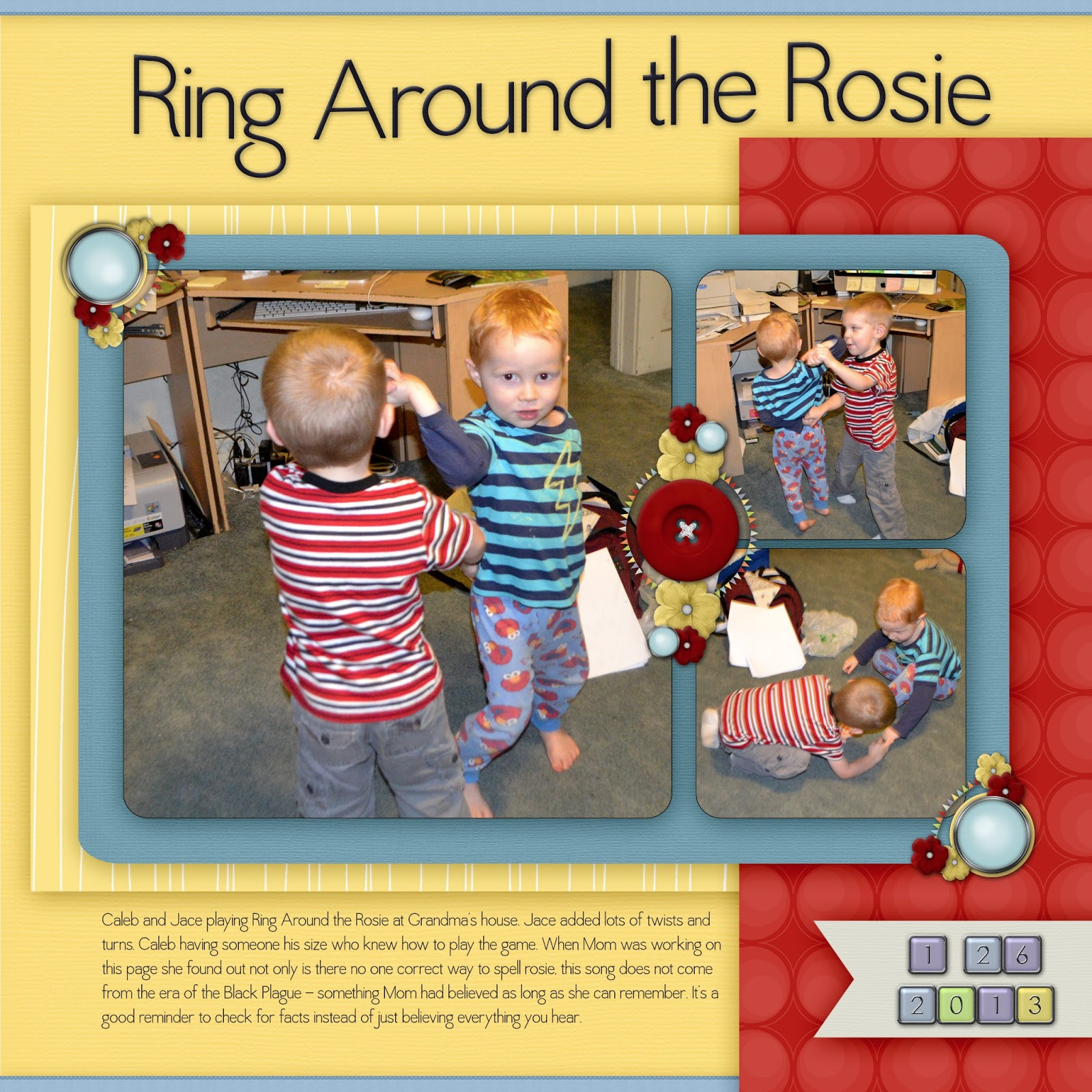 Love you more than a bus: January Update Ring Around The Rosie