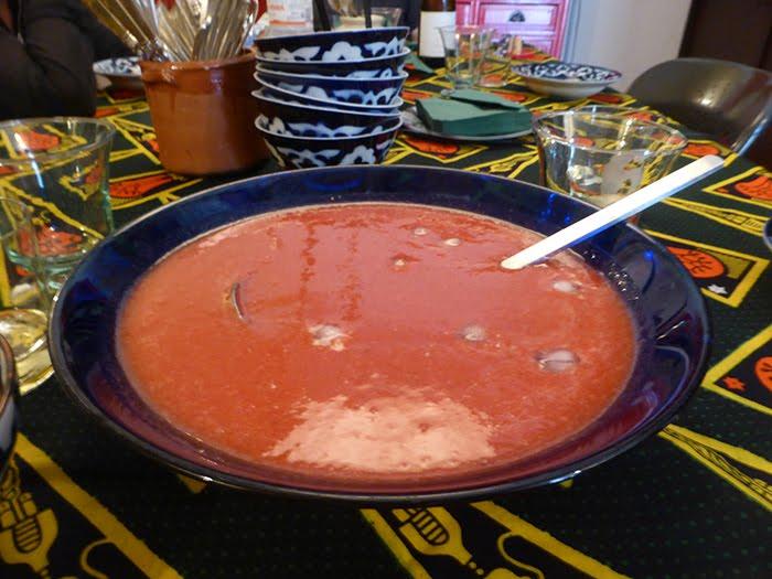 Gazpacho di fragole e pomodori datterini