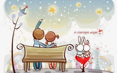 Hình ảnh hoạt hình về tình yêu dễ thương