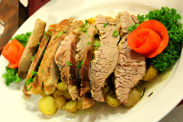 Homemade Corned Beef with Herbed Potatoes Recipe