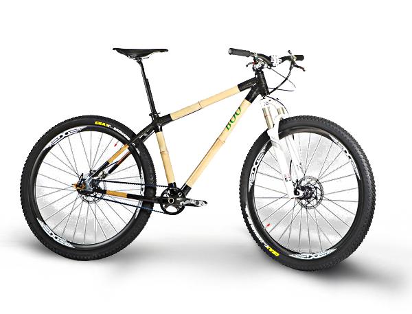 Una Bicicleta De Montaña Bambú