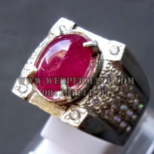 Cincin Batu Mulia Ruby