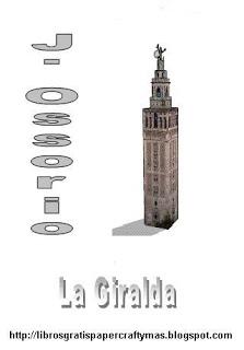 Recortable Exclusivo de la Giralda de Sevilla, Para descargar pinchar la imagen