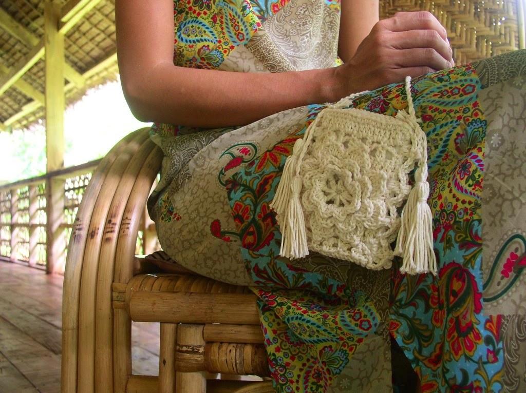 Crochetology By Fatima A Lacy Flower Purse