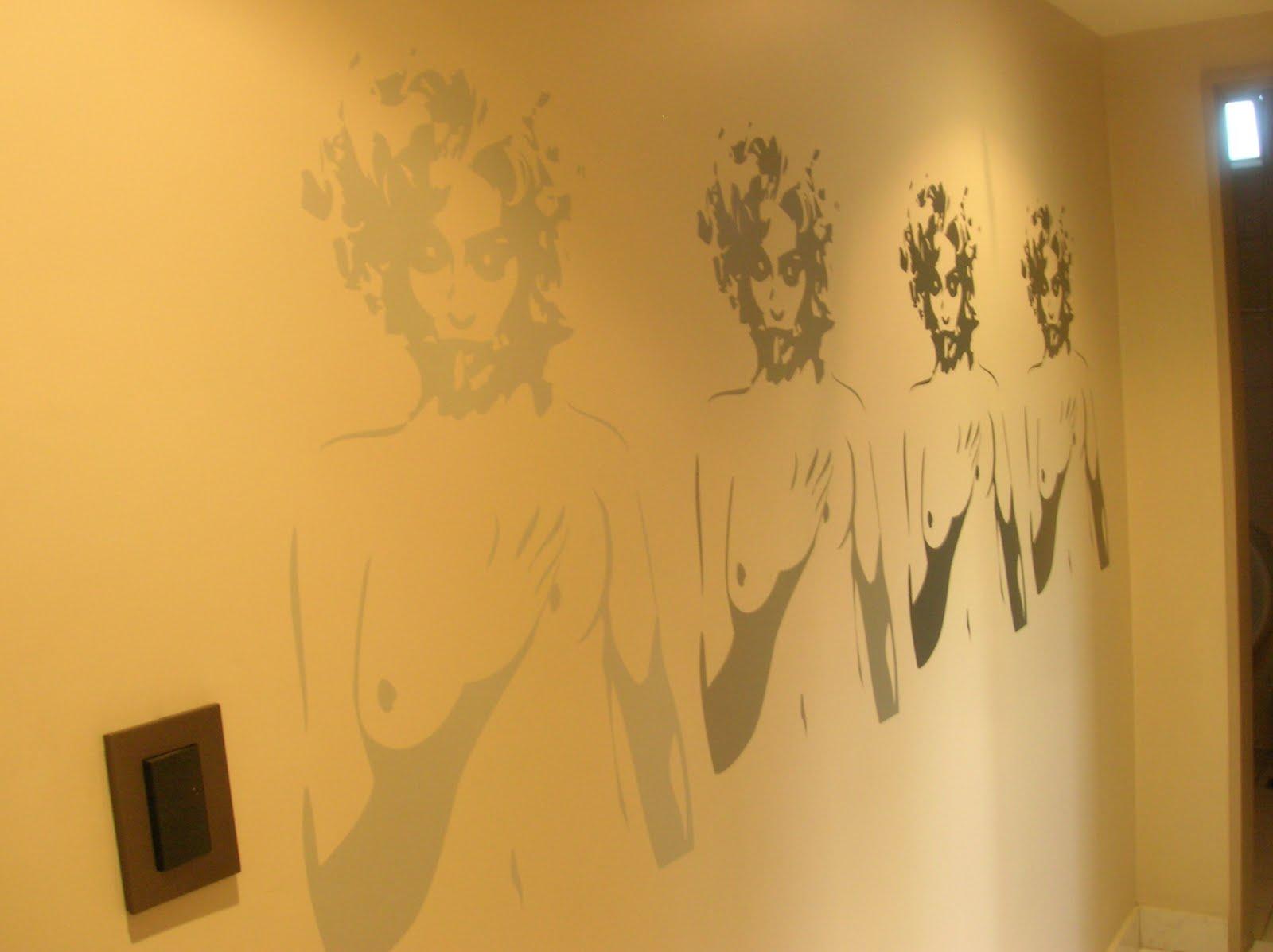 Rosario vouillat ambientaciones deco vinilos decorativos for Vinilos pared pasillo