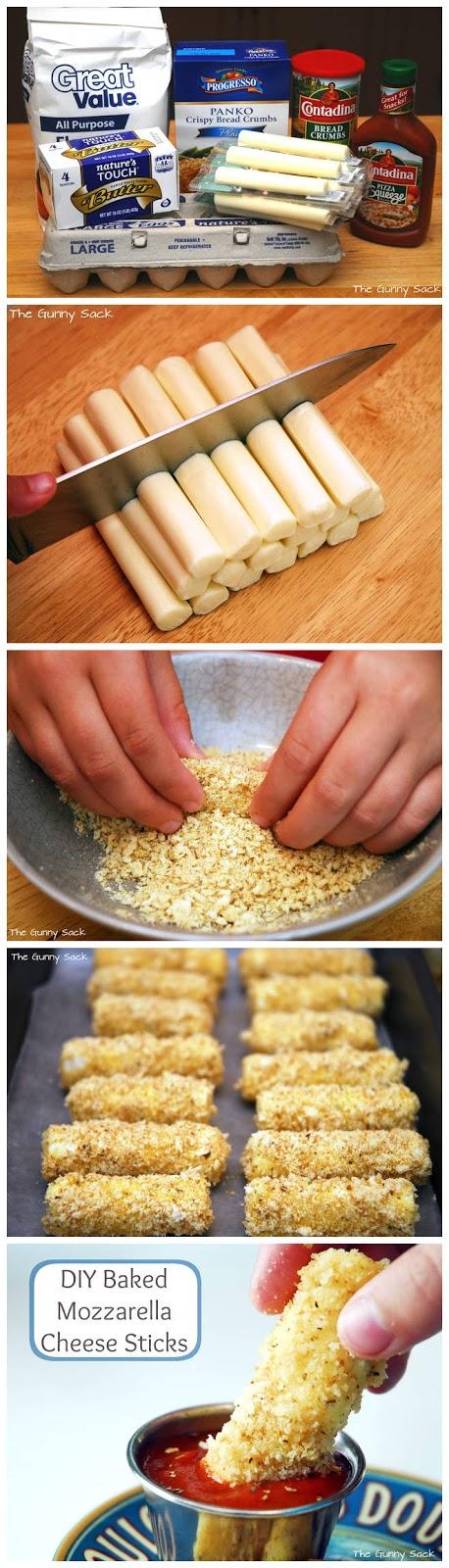 Baked Mozzarella Cheese Sticks - Recipebest