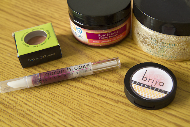 Photo of Cruelty Free For You & Me subscription box beauty products.
