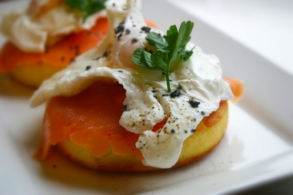 Smoked Salmon & Poached Egg Crumpets