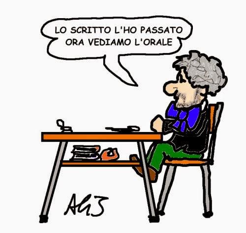 vignetta M5s, Grillo, Renzi