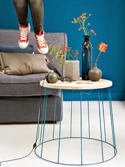 die wohngalerie filigraner beistelltisch zum selbermachen. Black Bedroom Furniture Sets. Home Design Ideas