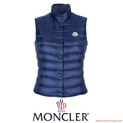 Princess Mary Style MONCLER Down Vest and NEW BALENCE Shoes