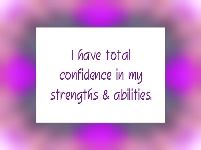STRENGTHS affirmation