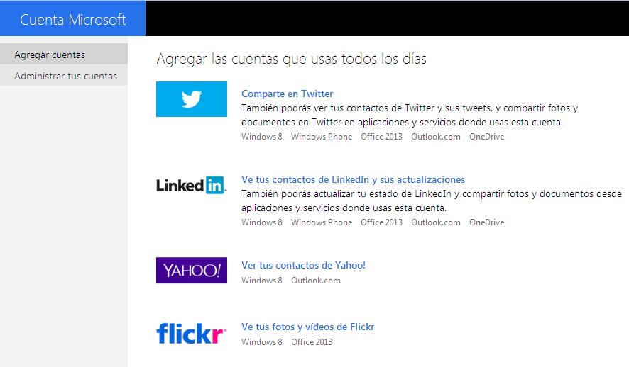 Paso 4 Conectar Twitter con Outlook.com