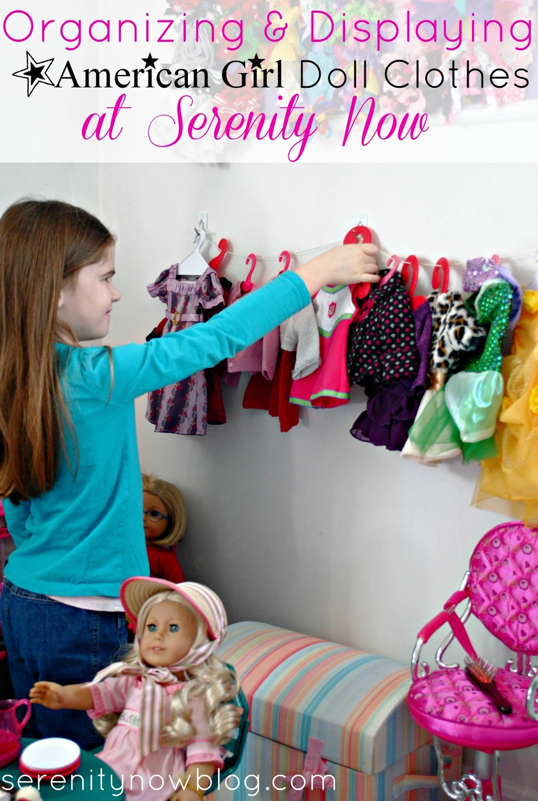 American Girl Doll Clothesline Display, From Serenity Now