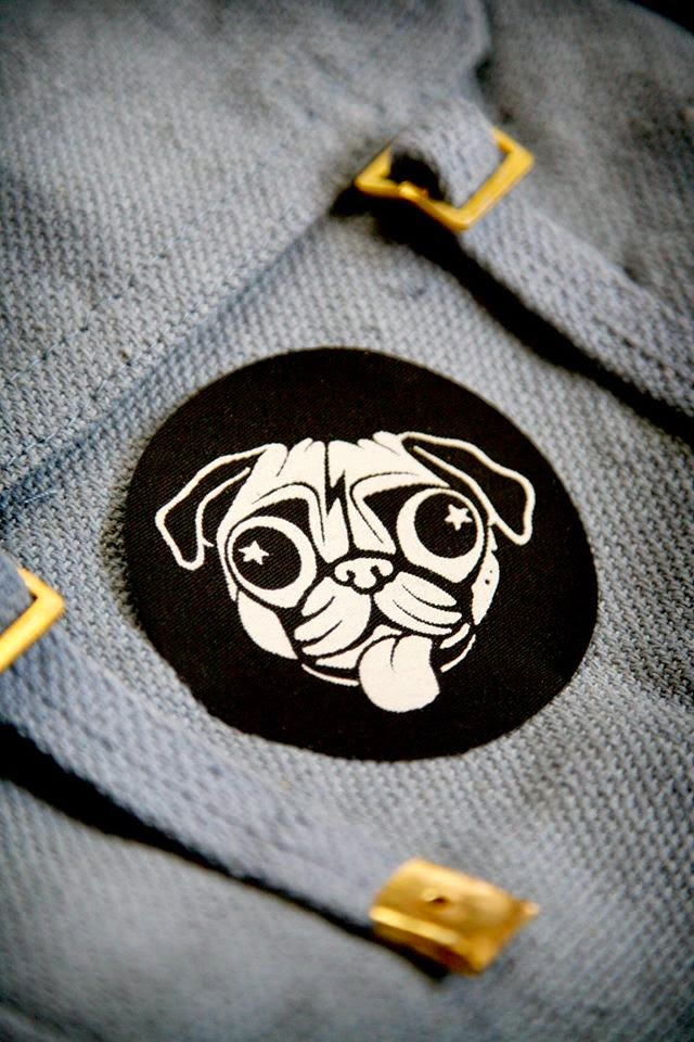 David Bowie inspired Pug dog patch
