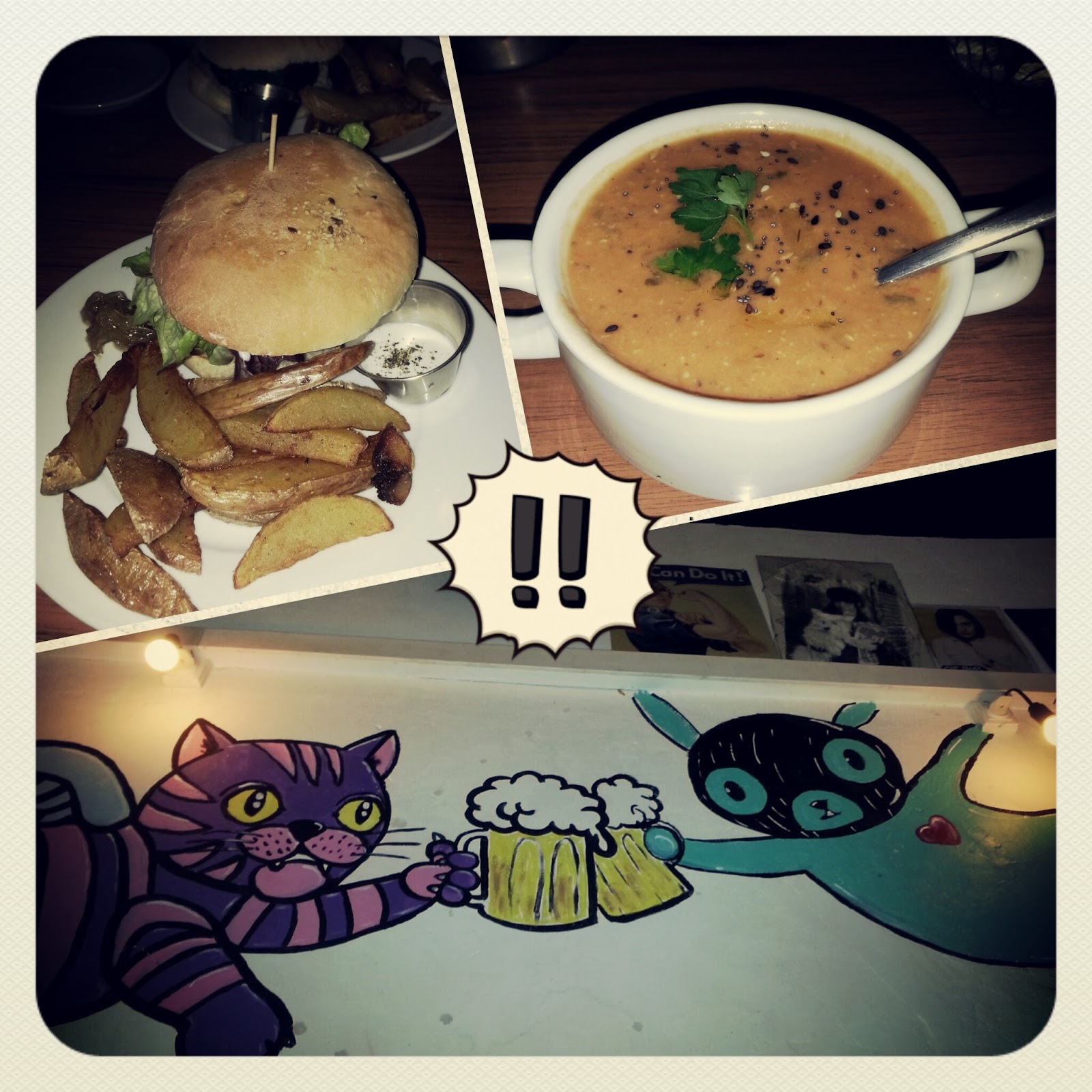 Cat Bar, Barcelona, Vegan, Soup, burger