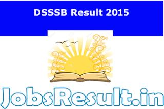 DSSSB Result 2015