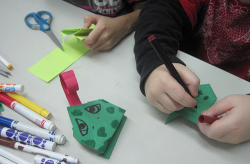 Simple Craft for Origami Frogs