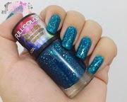 Esmalte da Semana da Laís: Esmalte Transparente Lustrado cor azul - Ludurana