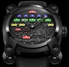 Relojes en homenaje al juego Space Invaders