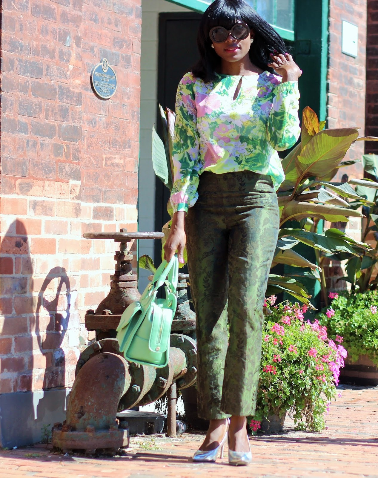 VINTAGE INSPIRED OUTFIT: PRINT AND PATTERN MIX