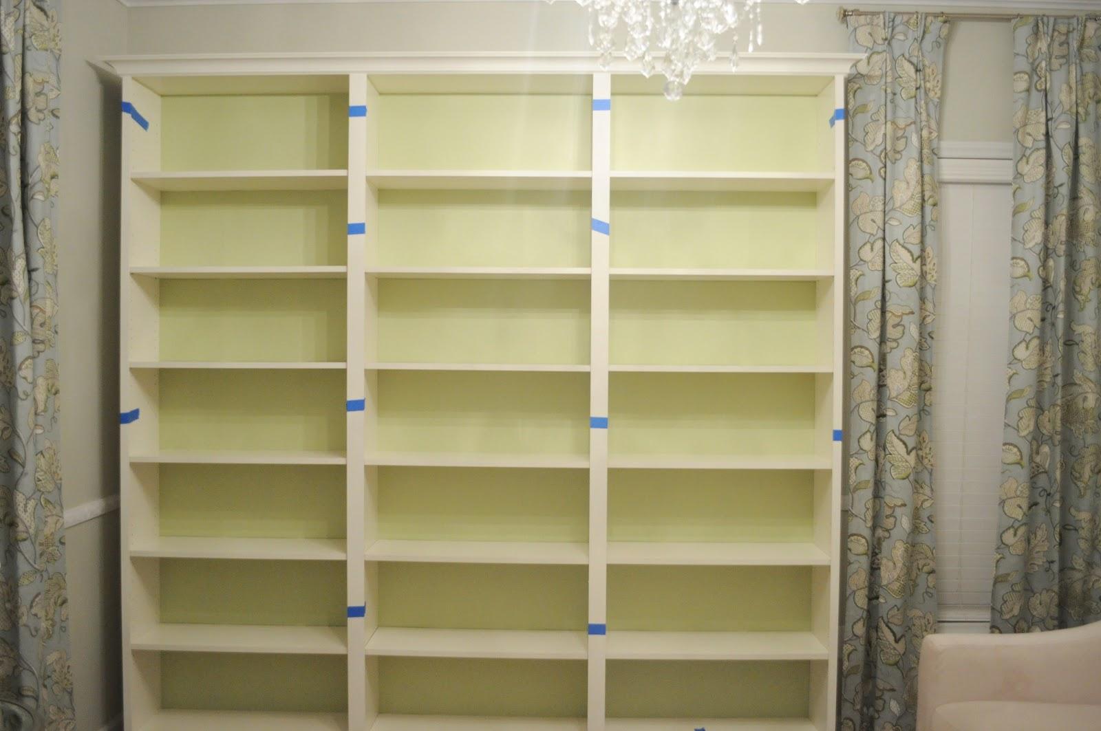 Adding The Trim Pieces Between Bookshelves