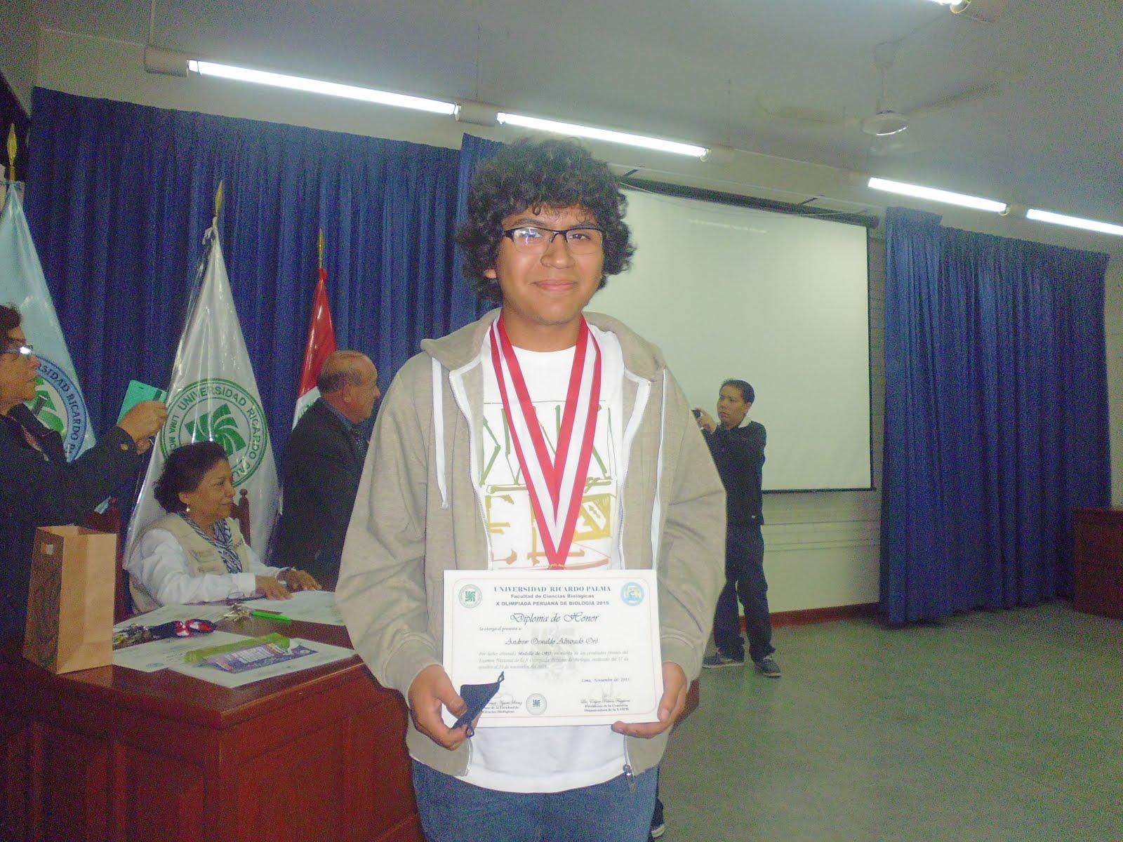MEDALLA DE ORO Y NUEVO CAMPEÓN NACIONAL DE LA X OPB 2015