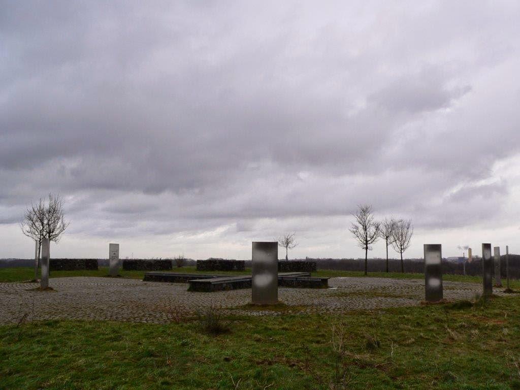 Stelen Stahl Aussicht Ruhrgebiet Ruhrpott Halde