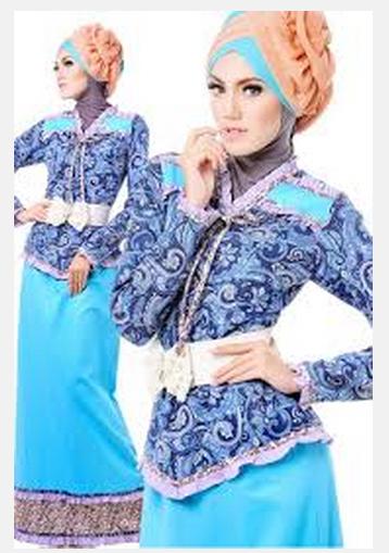 Kumpulan Gambar Baju Muslim Batik Modern Terbaru Lengkap