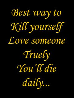 Quotes About Love Kills : Most the time love kills..... ~ onegreetingdaily- Greetings for you