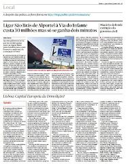 "Artigo ""Lisboa, Capital Europeia da Demolio?"""