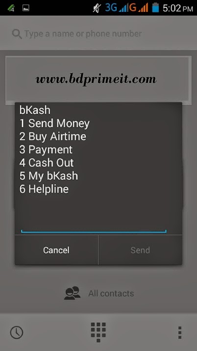 Recharge mobile by bKash account