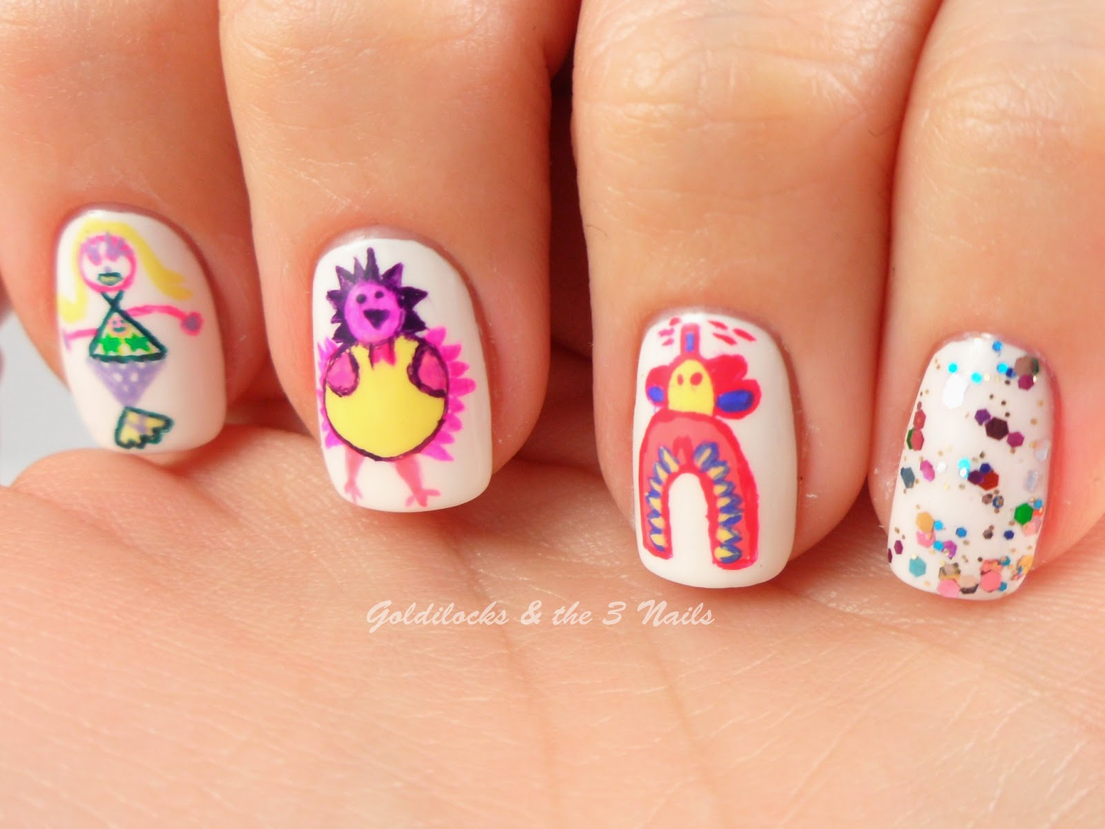Goldilocks The Three Nails International Childrens Day Nail Art